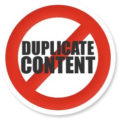 no duplicate content