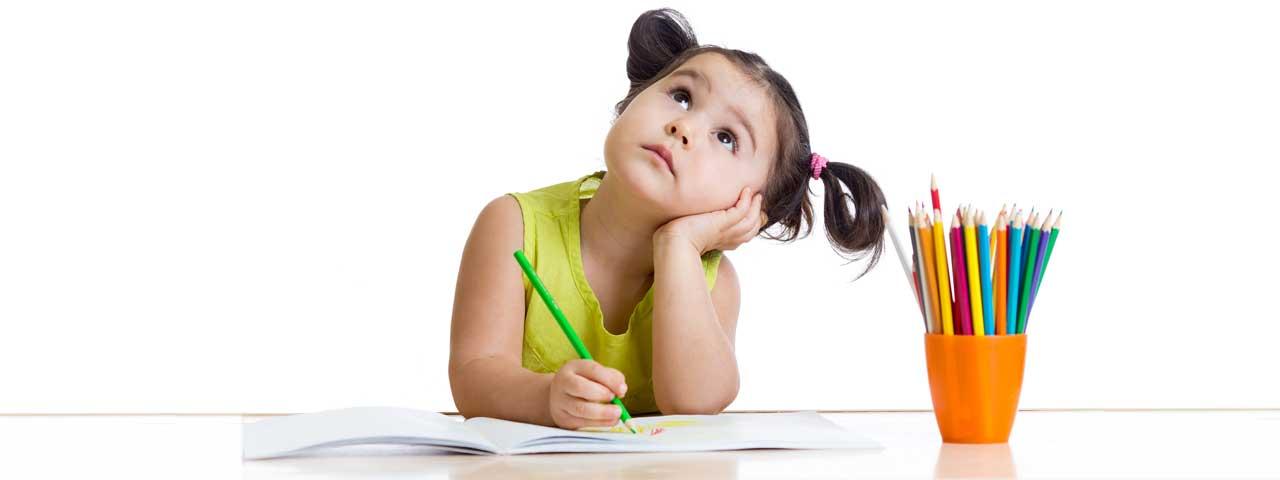 Girl Writing a Blog Post