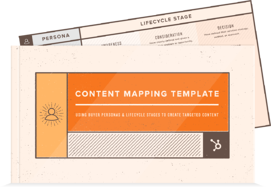 Inbound Marketing Content Mapping Template