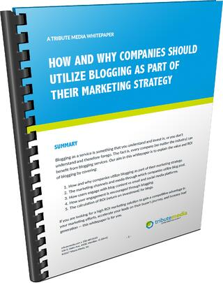 Utilize blogs in your web marketing efforts