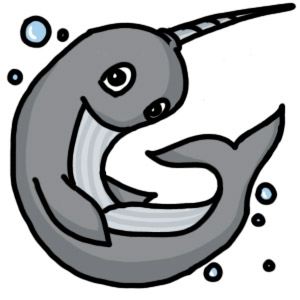 Tribute Media Mascot- Wally the Narwhal
