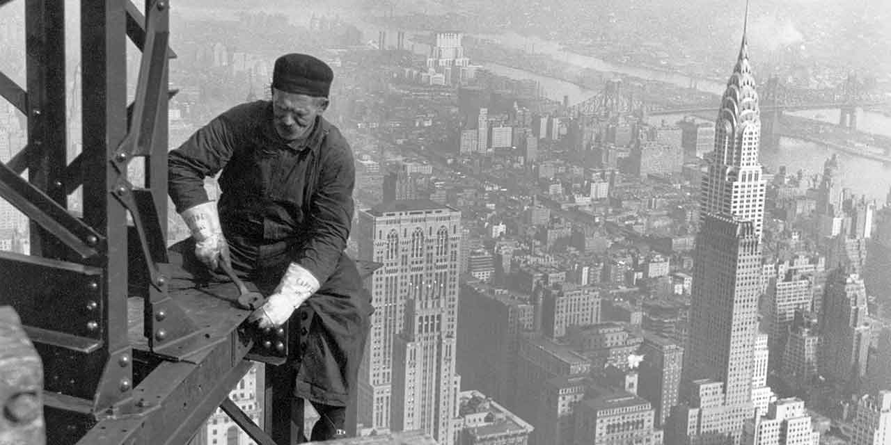 Worker on Empire State Building