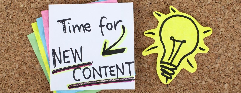 create new blog content