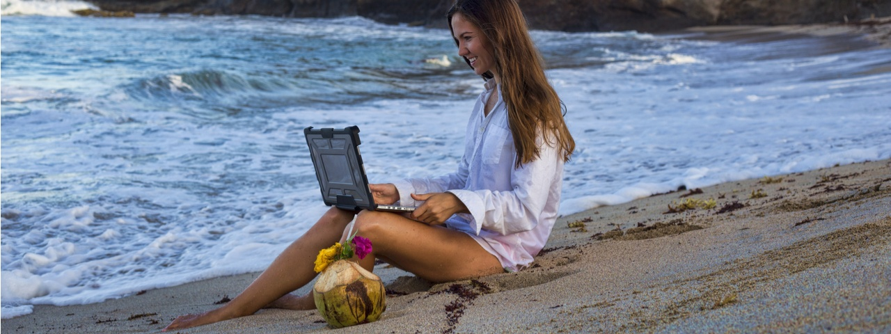 Work Remote on a Beach