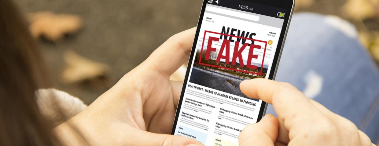 fake news on mobile phone