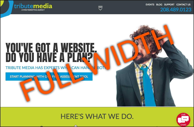 Tribute Media Website Full Width