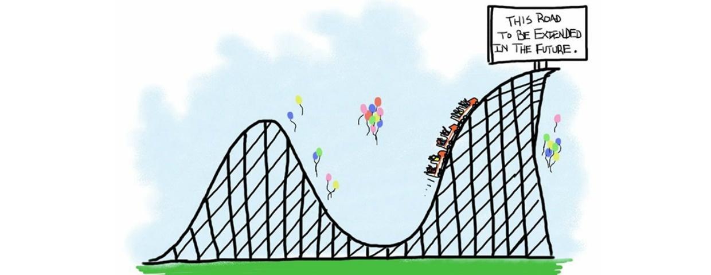 minimum viable product rollercoaster illustration