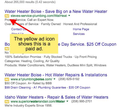 pay-per-click Ad icon
