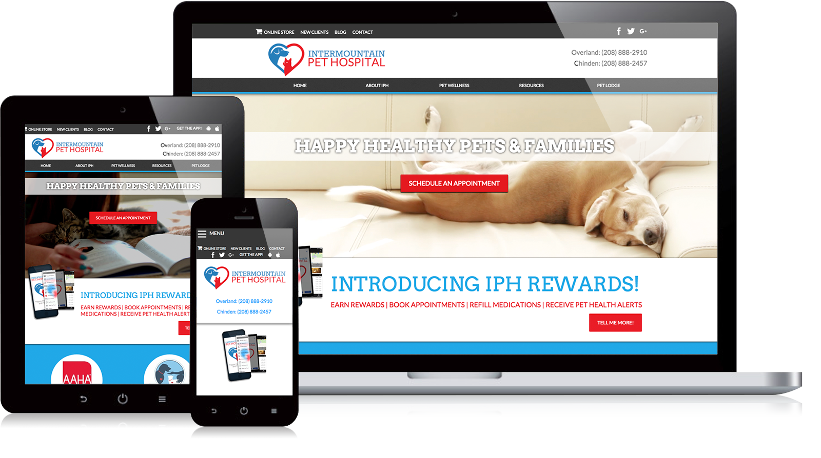 Intermountain Pet Hospital Website