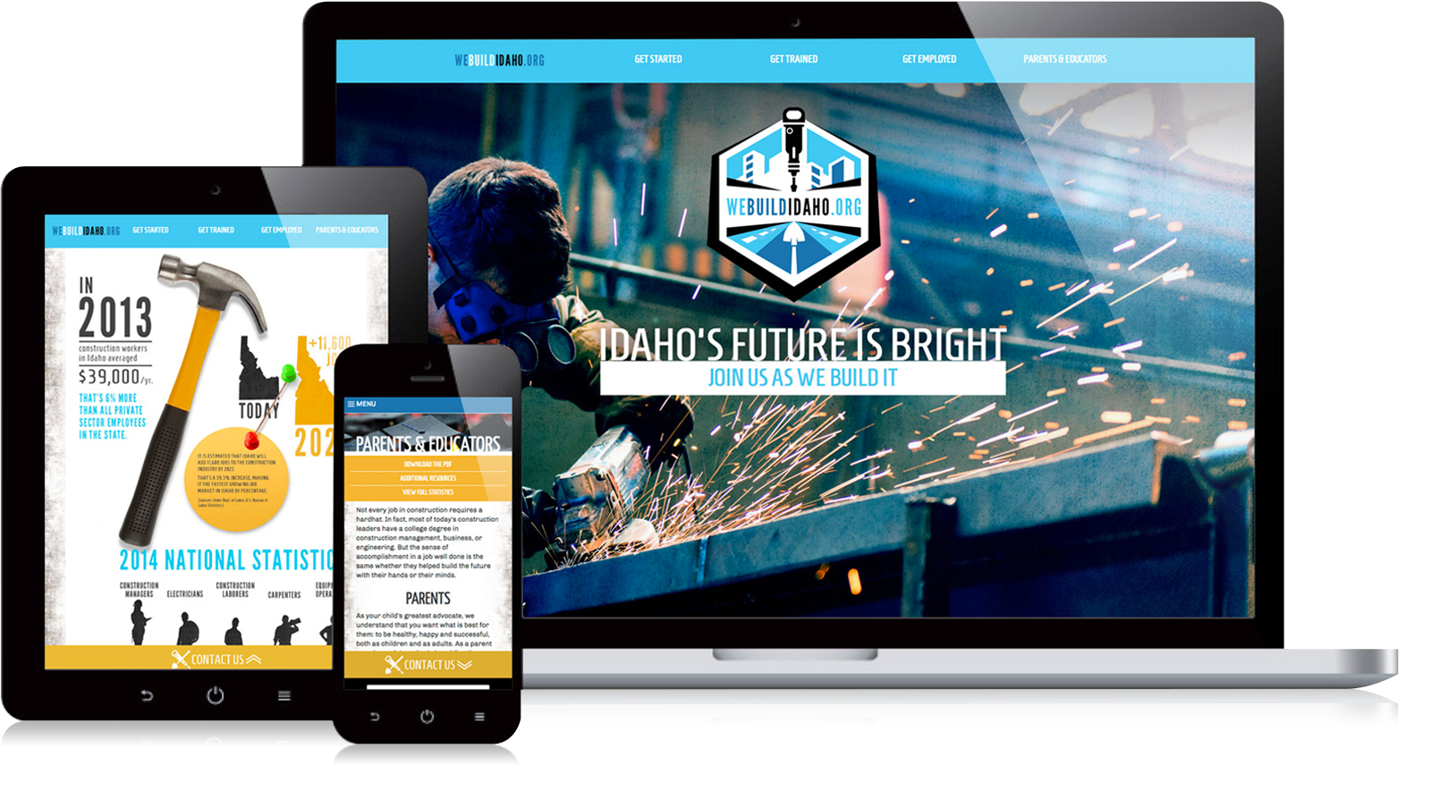 We Build Idaho website