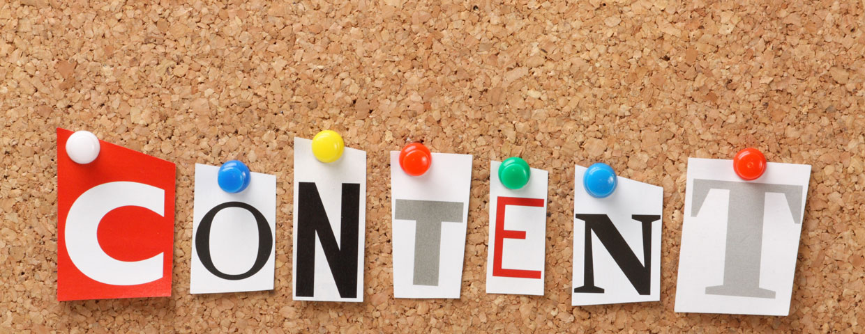 search engine optimization with content