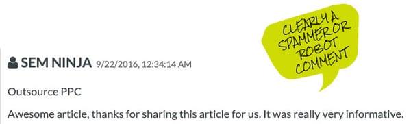 Spam blog comment