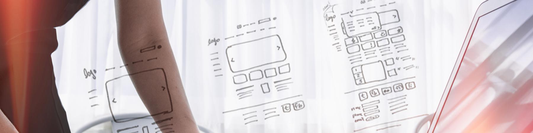 web design wireframes