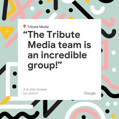 social graphic with five-star review