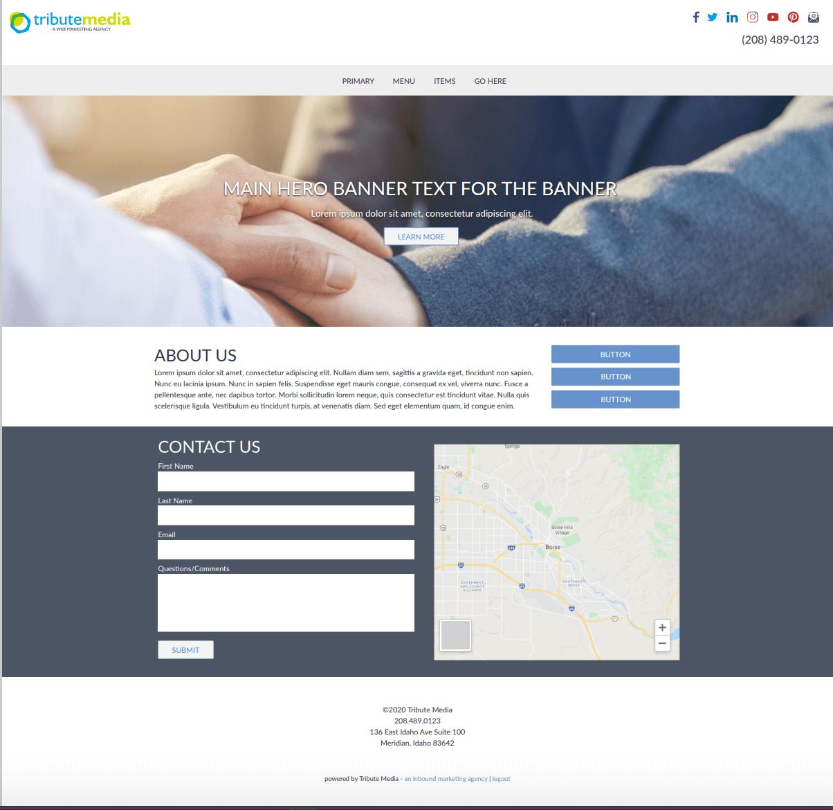 Brochure template homepage