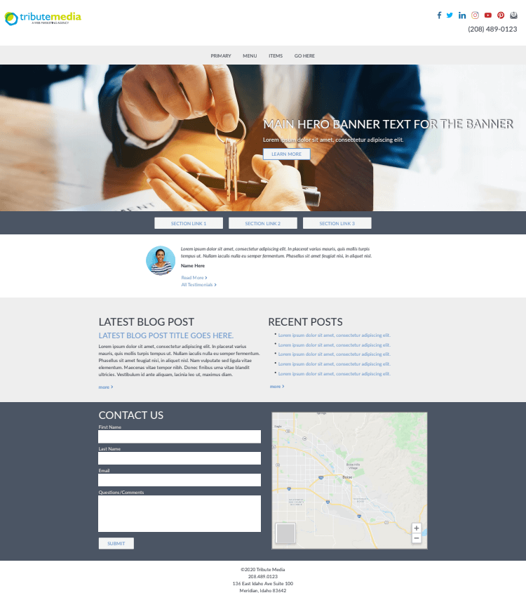 Estate Template Homepage