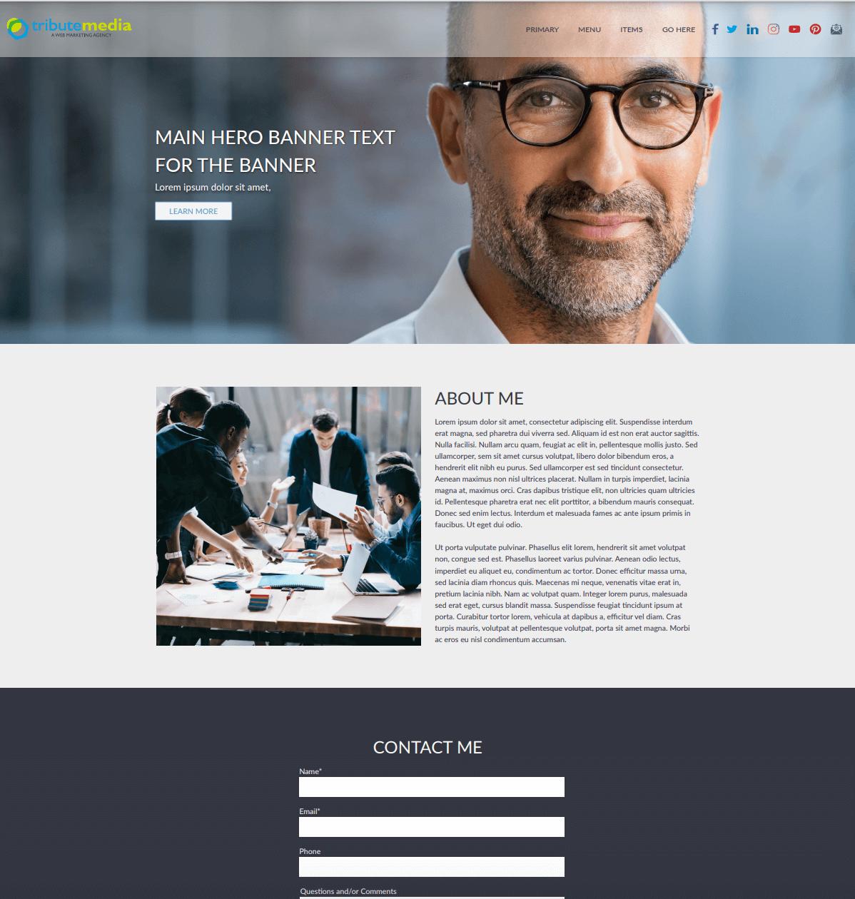 Tucci template homepage